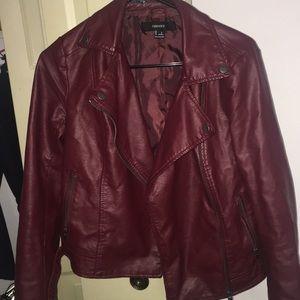 Burgundy Leather jacket!